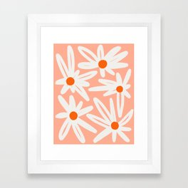 Happy Daisies Framed Art Print