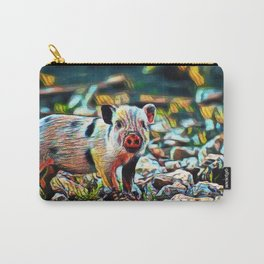 Old Spots Piglet   Painting Carry-All Pouch