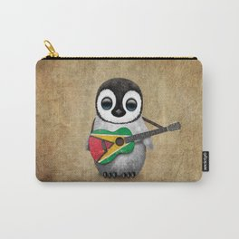 Baby Penguin Playing Guyanese Flag Acoustic Guitar Carry-All Pouch