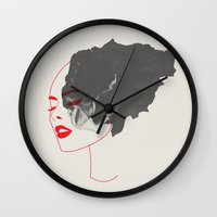 feminism Wall Clocks featuring Feminism by 83 Oranges™