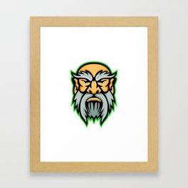 Cronus Greek God Mascot Framed Art Print