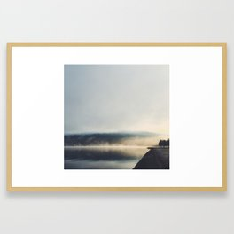 A Foggy Lake George from the Southern Basin Framed Art Print