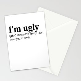 Ugly Dictionary Meme Stationery Cards