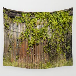 Vines on fence  Wall Tapestry