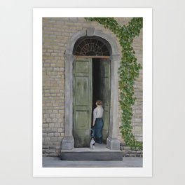 Going In and Out Art Print