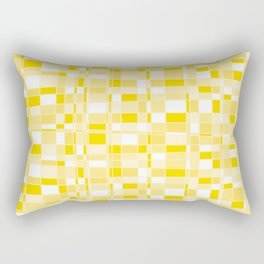 Mod Gingham - Yellow Rectangular Pillow