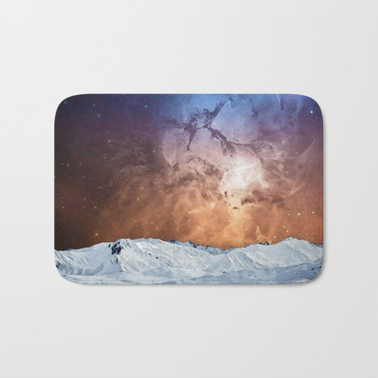 Cosmic Winter Landscape Bath Mat