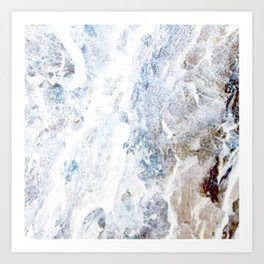 Earth Marble Art Print