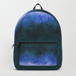 Slate Blue Steel Abstract Backpack