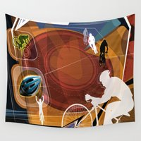 cycling Wall Tapestries featuring Cycling by Robin Curtiss