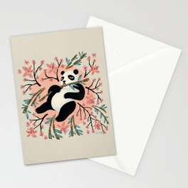 Panda Vibes – Pink & Cream Palette Stationery Cards
