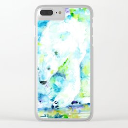 POLAR BEAR - watercolor portrait Clear iPhone Case