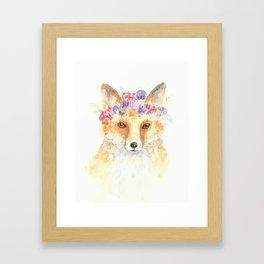 Miss Foxie Framed Art Print