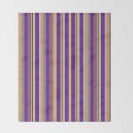 awning stripe Throw Blanket