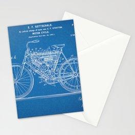 1901 Stratton Gottschalk Motorcycle Patent Blueprint Stationery Cards