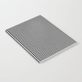Black & White Vertical Stripes Notebook