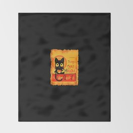 Chat Magique Throw Blanket