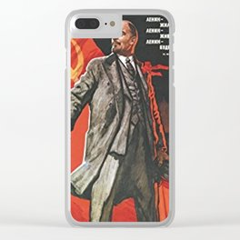 Lenin Communist Propaganda Clear iPhone Case
