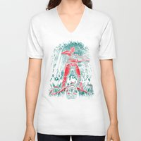 hunter V-neck T-shirts featuring Hunter by Fuacka
