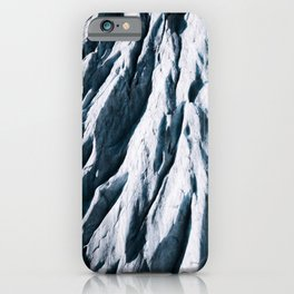 Arctic Glacial Pattern from above - Landscape Photography iPhone Case