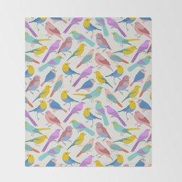 Dazzling Colored Bird Pattern Throw Blanket