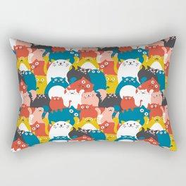 Cats Crowd Pattern Rectangular Pillow