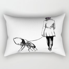 Pets ( and girl and her Beetle ) Rectangular Pillow