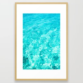 Crystal Clear Sea Water Framed Art Print
