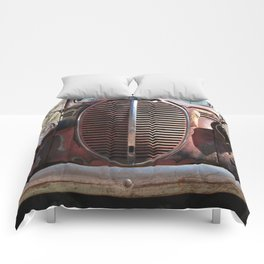 Truck Grill, Old Truck, Old Truck Grill Comforters