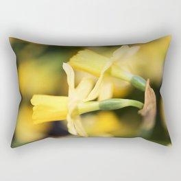 Tête-à-Tête Daffodil - Head to Head Rectangular Pillow