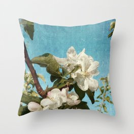 French Blossoms Throw Pillow