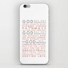 God has promised iPhone & iPod Skin