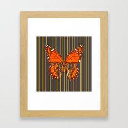 OLD WORN DESICCATED BUTTERFLY PATTERN ART Framed Art Print