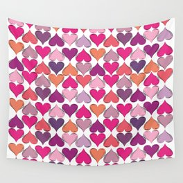 colerfull hearts Wall Tapestry
