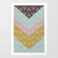 arrows Art Prints featuring arrows by Emma S