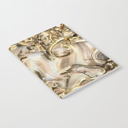 GOLD SWIRLS Notebook