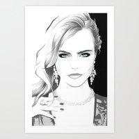 "cara Art Prints featuring ""Cara"" by Kenneth J. Franklin"
