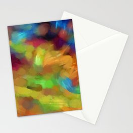 Colored paint spots. Stationery Cards