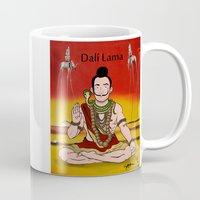 lama Mugs featuring Dalí lama by Michelena
