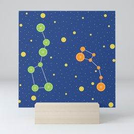 Citrus constellations Mini Art Print