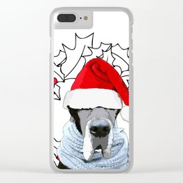 Feliz Navidog Clear iPhone Case