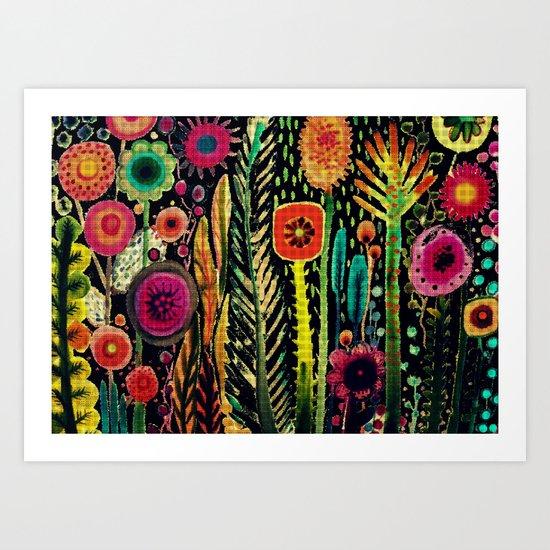 printemps (old fabric) Art Print