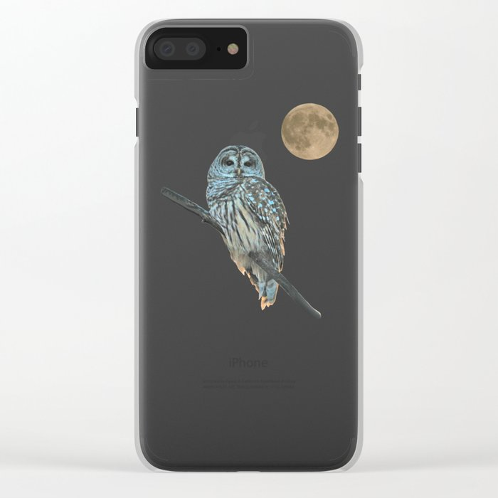 Owl, See the Moon Clear iPhone Case