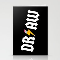 acdc Stationery Cards featuring DR/AW by Byway