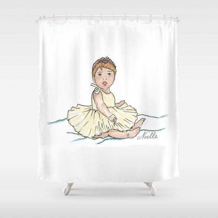 Baby Ballerina Shower Curtain By Christennoelle