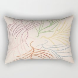 Pastel Coloured Feather Print Rectangular Pillow