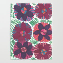 Tropical Blossoms Poster