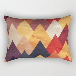 Eccentric Mountains Rectangular Pillow