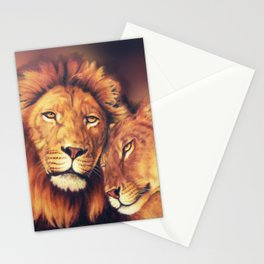Lions Soulmates Stationery Cards