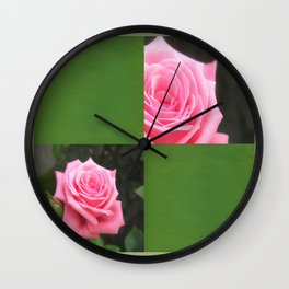Pink Roses in Anzures 4 Blank Q5F0 Wall Clock
